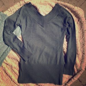 Smoky Teal Light Silk and Cashmere Sweater XS